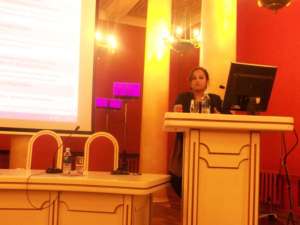 Sarah Zaaimi representative of Anna Lindh foundation