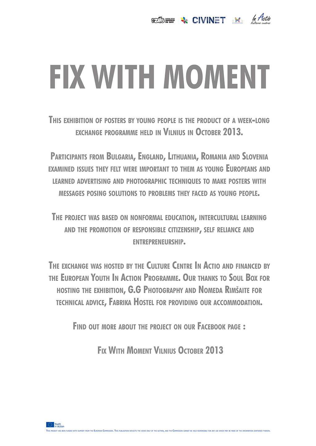 "From exhibition""Fix with moment"""