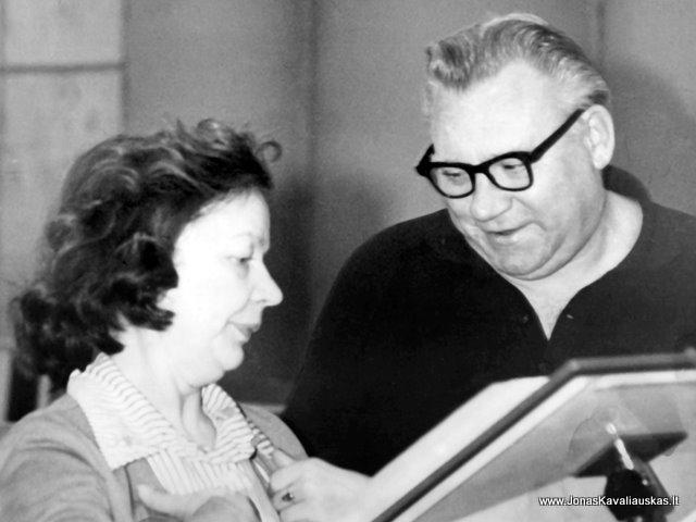 O.Knapkytė ir J. Kavaliauskas radijuje