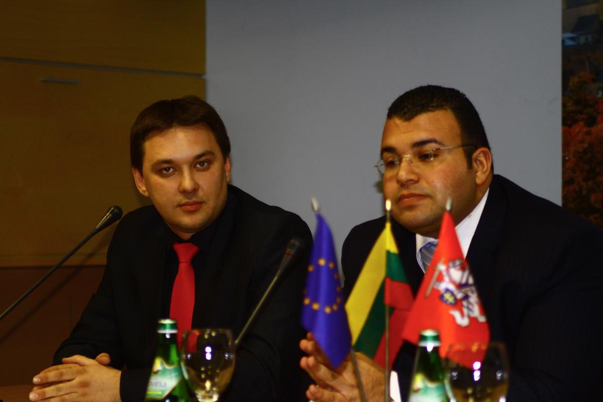 Andrius Bečys ir Mahmoud Ezzat
