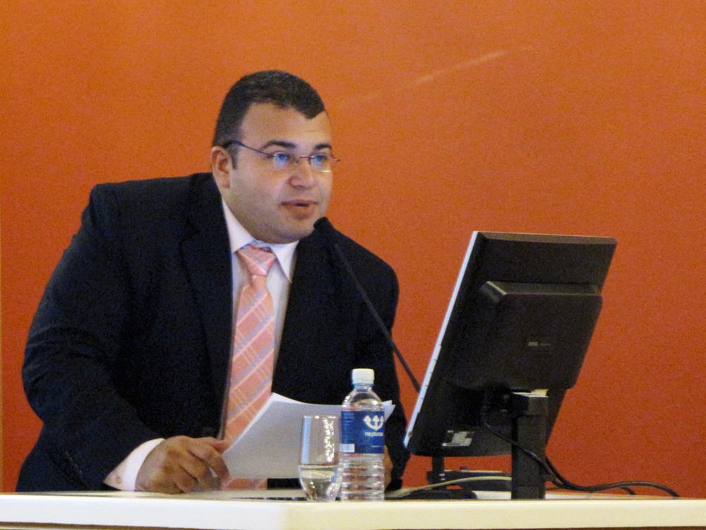 Aleksandrijos Bibliotekos atstovas Mahmoud Ezzat