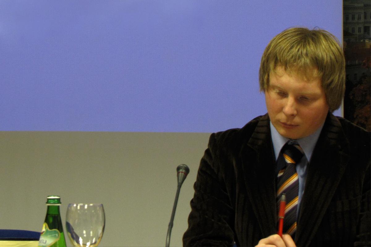 Konferencijos vedėjas Tomas Šileika