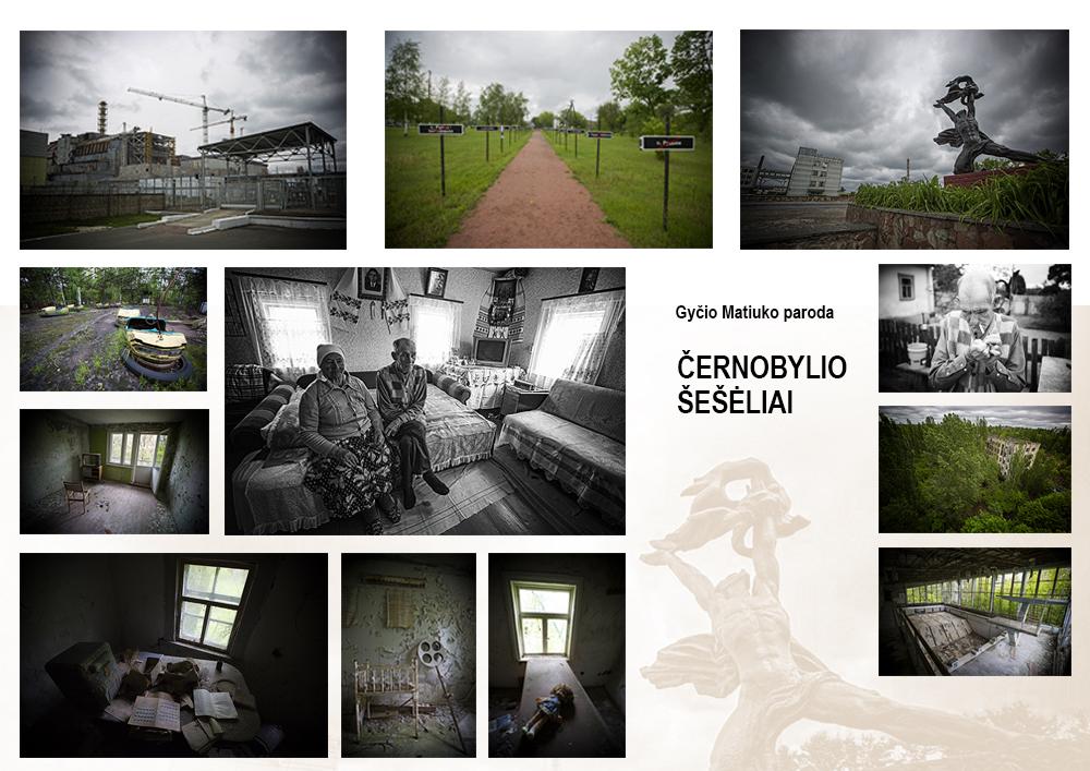 """Fotomenininko Gyčio Matiuko paroda """"Černobylio šešėliai"""""""